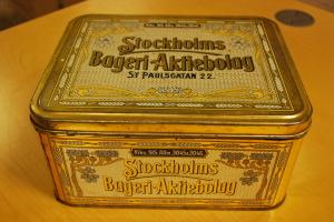 Stockholm Bagare, plåtburk