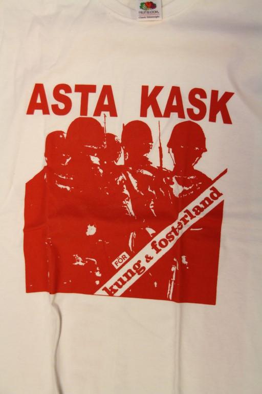 Asta Kask - För Kung Och Fosterland (Vit T-S)