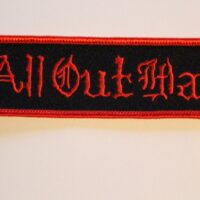 All Out War – Logo (Broderad Patch)
