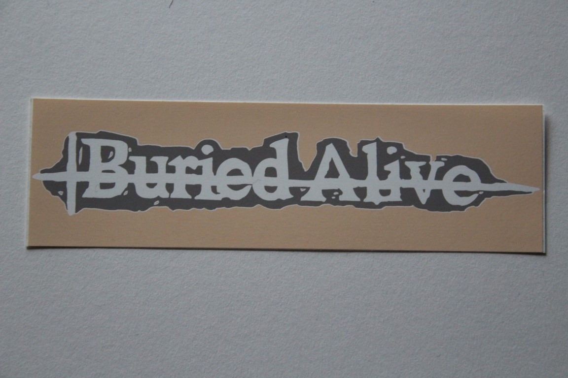 Buried Alive - Logo (Sticker)