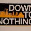 Down To Nothing - Buildings/Logo (Sticker)