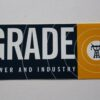 Grade - Power And Industry (Sticker)