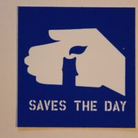 Saves The Day – Candle (Sticker)