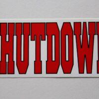 Shutdown – Logo (Sticker)
