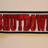 Shutdown – Logo (Broderad Patch)