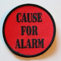 Cause For Alarm – Logo (Broderad Patch)