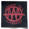 Against All Authority - AAA (Cloth Patch)