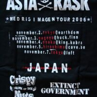 Asta Kask – Grey Skull/Japan Tour (Black T-S)
