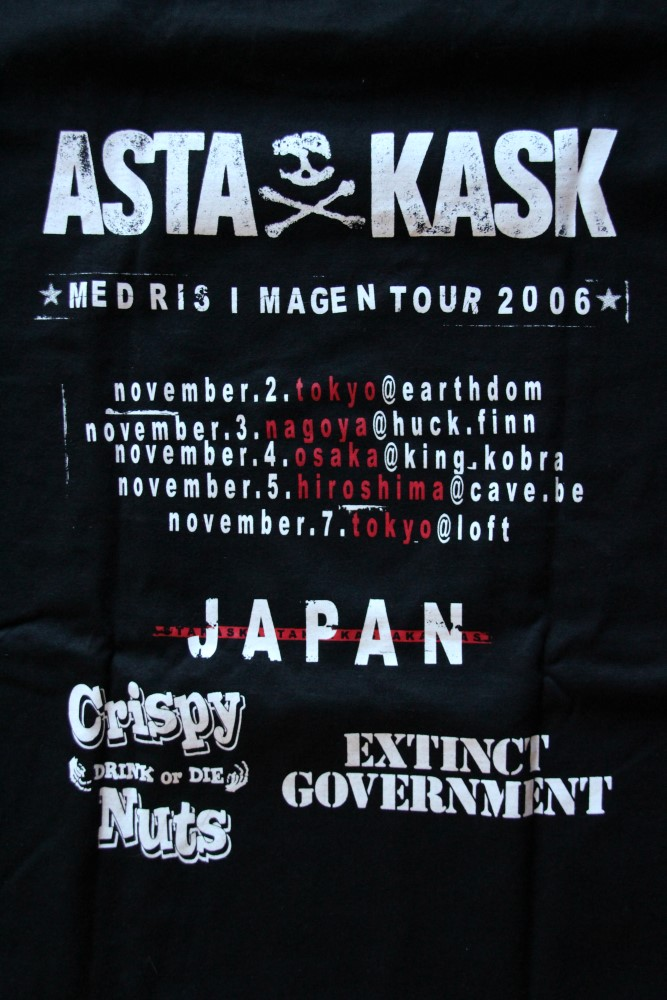 Asta Kask - Grey Skull/Japan Tour (Black T-S)