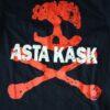 Asta Kask - Rough Red Skull/Logo (Black T-S)