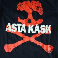 Asta Kask – Rough Red Skull/Logo (Black T-S)