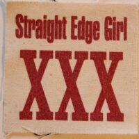 Straight Edge Girl – XXX (Cloth Patch)