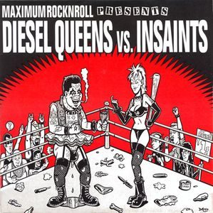 Diesel Queens Vs. Insaints – Split (2 x Color Vinyl Single)
