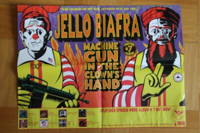 Jello Biafra - Machine Gun (Poster)