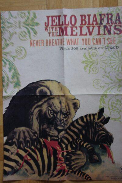 Jello Biafra / Melvins - Never Breath.. (Poster)