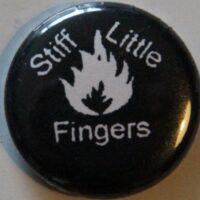 Stiff Little Fingers – White Flame (Badges)