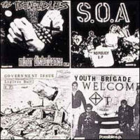 Youth Brigade, Teen Idles, S.O.A, Government Issue – Split (Clear Vinyl LP)