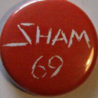 Sham 69 – White Logo (Badges)