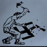 No Nazi – Hammer Smash (Sticker)