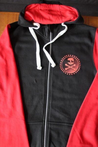 Asta Kask - Rough Red Skull/Logo (Black/Red, Baseball Zip Hood)