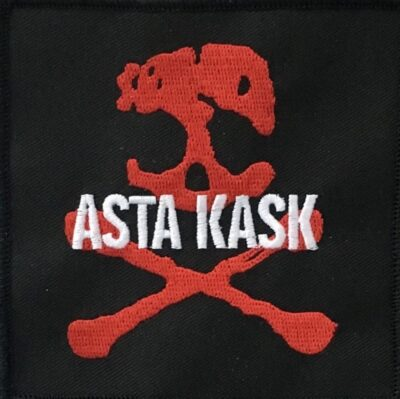 Asta Kask - Red Skull (Broderd Patch)