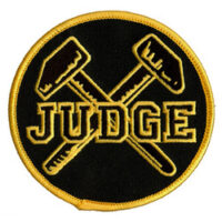 Judge – Logo/Hammers (Embroidered Patch)
