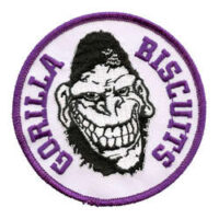 Gorilla Biscuits – Gorilla (Lila)(Embroidered Patch)