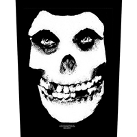 Misfits – White Skull (Sew On Back Patch)